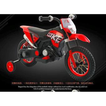 New Sporty Motor Bike Ride-on Bike for Kids, Boys and Girls WithMusic and Lights (Red)