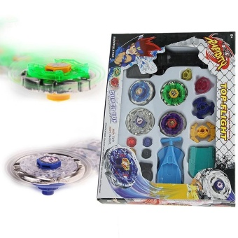 New Top Metal Master Spinner Top Gyro Rapidity Fight Rare Beyblade 4D Launcher Grip Child Toy Set - intl