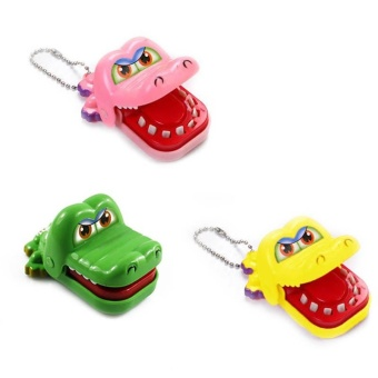 New Toy Crocodile Dentist Bite With Keychain Mouth - intl