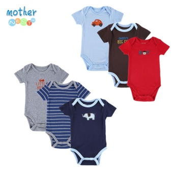 Newborn Baby Bodysuit Baby Boy Layette Summer Body Baby Next NewBorn Baby Clothes Babies 6Pcs - intl Price Philippines