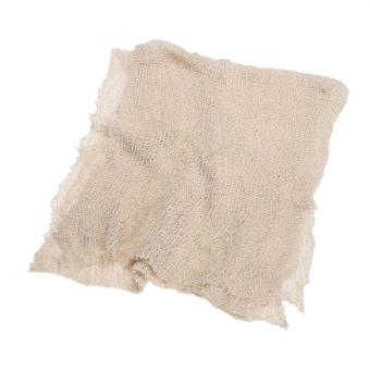 Newborn Baby Cotton Linen Swaddle Wrap Photography Prop (LightKhaki) - intl