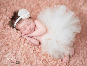 Newborn Baby Girl Crochet Knit Tutu Skirt Costume Photography Photo Prop Outfits(white) - intl