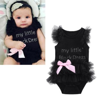 Newborn Baby Girls Infant Romper Lace Jumpsuit Bodysuit - intl