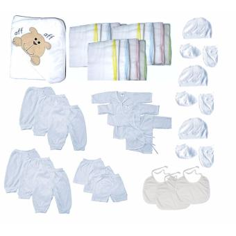 NEWBORN BABY UNI STARTER SET 37PCS WHITE