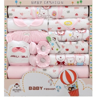 Newborn Girl Clothes 0-12 Months Long Sleeve Cotton New Born Baby Boy Clothing Gift Sets Suit Summer Infant Clothing 18pcs/set - intl