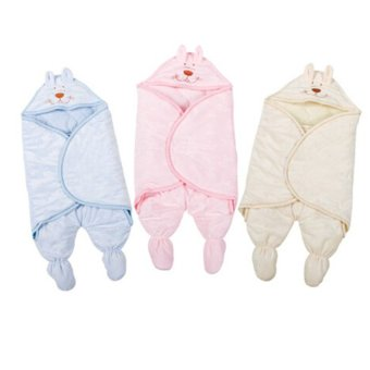 Newborn Infant Baby Printing Sleeping Bag Blanket Swaddles CarrierStroller Wrap (Pink)