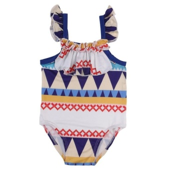 Newborn Kid Baby Girls Bikini Geometric Swimwear Swimsuit MonokiniBathing Suit - intl