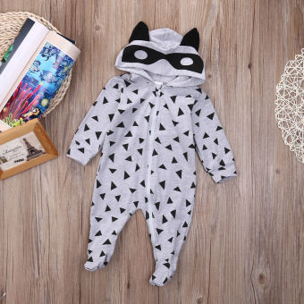 Newborn Kids Baby Boy Girl Infant Romper Jumpsuit Bodysuit HoodedClothes Outfit