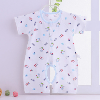 Newborn male and female short sleeved children's romper baby coveralls