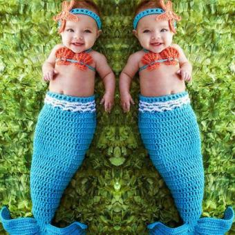 newborn photography props baby Costume Mermaid Infant baby photoprops Knitting fotografia newborn crochet outfits accessories -intl