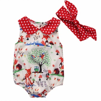 Newborn Toddler Baby Girl Romper Jumpsuit Bodysuit Infant Clothes Outfit Sunsuit - intl