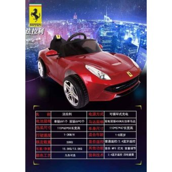 Newest Sport Edition Ferrari Style 12v Ride Car for Kids, Boys andGirls With Music, Lights (Red)
