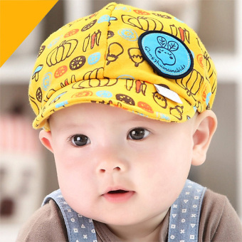 Newest Summer Newborn Baby Hat Kids Cap Infant Baby Hat for Boysand Girls-yellow