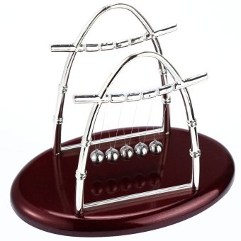 Newton Cradle Balance Balls Science Pendulum Desktop Toy- INTL