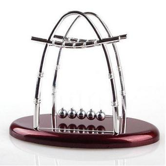Newtons Cradle Physics Science Steel Balance Ball Pendulum - intl