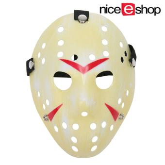niceEshop Thickening Fade Yellow Jason Mask Halloween Custume Ball Party Horror Funny Cosplay Face Mask