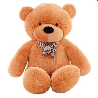 NineNine Can Say I Love You Birthday Gift Cute Lovely Brown StuffedToys Animal Teddy Bear Plush Soft Toy 120CM - intl - 2