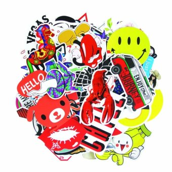 No Fade Guaranteed,110pcs Graffiti Decals Pack for Car MotorcycleBicycle Skateboard Laptop Luggage Vinyl Sticker LaptopLuggage,Bumper stickers (Set1 110pcs) - intl - 2