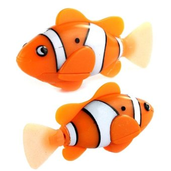 Novel Robo Electric Toy Pet Fish Aquatic Gift for Kid ChildrenOrange - intl