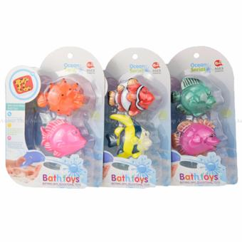 Ocean Series Squeaky Squeeze Water Squirter Bath Toys Set of 6