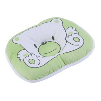 OH Bear Pattern Green Pillow Newborn Infant Baby Support Cushion Pad Prevent Flat Head