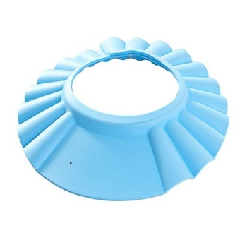 Okdeals Adjustable Baby Shampoo Bath Hat Wash Hair Shield Blue