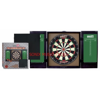 One80 Pro Achiever Dart Board Set with Cabinet