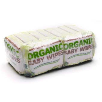 Organic Baby Wipes 20's Pack of 12 (White)