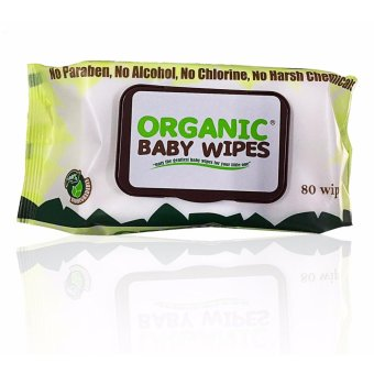 Organic Baby Wipes 80's Pack of 6 with CAP