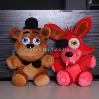 Original Five Nights At Freddy's 4 FNAF Foxy Freddy Fazbear DollPlush Toys 10""