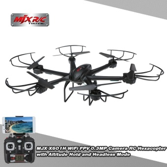 Original MJX X601H WiFi FPV 0.3MP Camera RC Hexacopter withAltitude Hold and Headless Mode RTF Drone - intl Price Philippines
