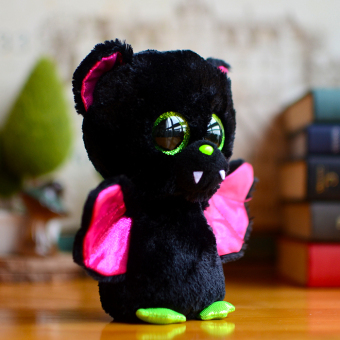 Original Ty Collection Beanie Boos Kids Plush Toys IGOR Bat Big Green Eyes Christmas Gift Kawaii Cute Soft Stuffed Animals Dolls - picture 2