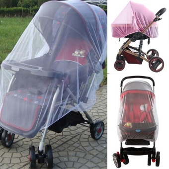 Outdoor Infant Kids Baby Stroller Mosquito Net Pushchair Protector Car Buggy Cover - intl