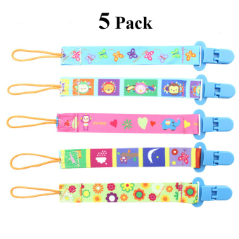 Pacifier Clip Set 5 Pack for Baby-Cute 2-Sided Designed Binkie Clips,Holder for Baby Soothie,Teething Toys - intl - 2