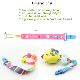 Pacifier Clip Set 5 Pack for Baby-Cute 2-Sided Designed Binkie Clips,Holder for Baby Soothie,Teething Toys - intl - 4