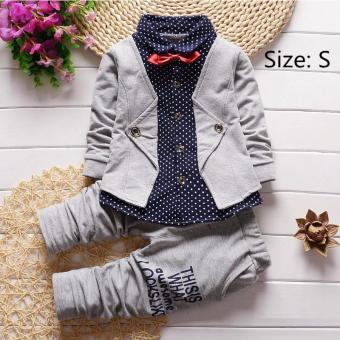 PAlight Baby Boys Shirt Jacket + Pants 2-Piece Suit Clothing Sets - intl