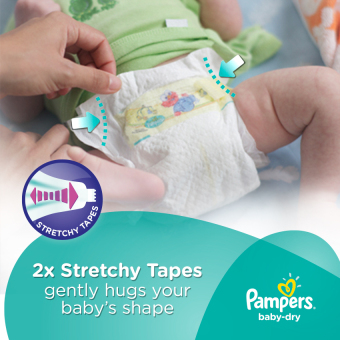 Pampers Baby Dry Diaper Small 58s - 4 Packs - 3