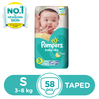 Pampers Baby-dry Taped Diaper S 58 pc