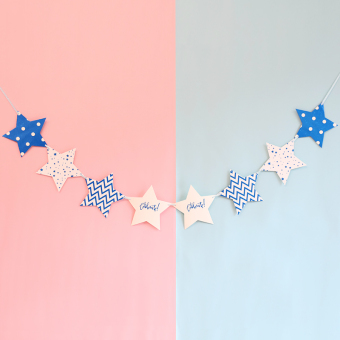 Party banner birthday party window five point star