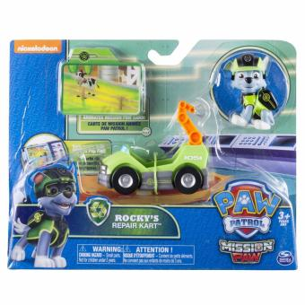 Paw Patrol Mini Vehicles with Figure - Rocky's Repair Kart