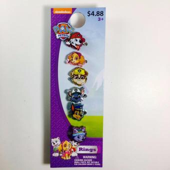 Paw Patrol Rings Set of 6 on a Card Price Philippines