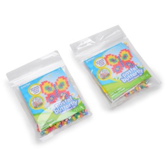 Perler Beads Pastel Butterfly Fused Bead Kit Pack of 2