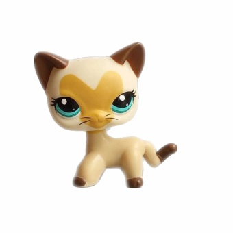 Pet shop Beige cat with heart pattern Doll Figure Child Toy Action figure girl's Collection classic animal pet LPS toys European - 3
