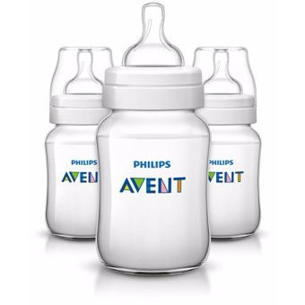 Philips Avent Classic Plus Baby Bottles, 9 Ounce (3 Pcs)