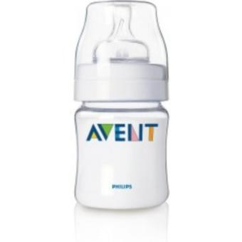 Philips Avent Feeding Bottles-Silicone Teat Bottle 0+ Months SCF680/17 125ml Set of 2 (Clear)