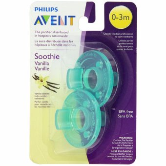 Philips Avent - Vanilla Scented Soothie Pacifier, Green, 0-3Months, Pack of 2 Price Philippines