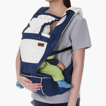 Picolo 5-in-1 Soft Carrier with Hip Seat and Hood (Blue)