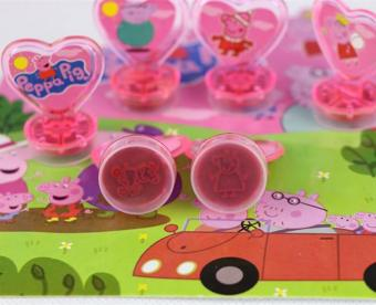 Pig Toys Action Figure Dolls For Children Boys Girls Kids GiftsDaddy Mommy George Peppa Family Seal Stamper Set - intl