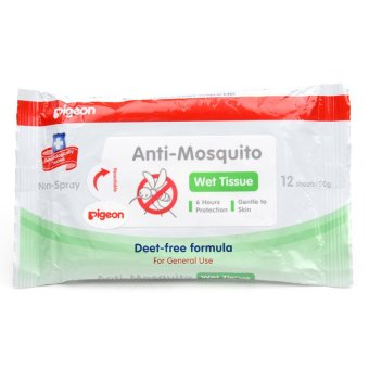 Pigeon Anti-Mosquito Wipes 12 Sheets - 2