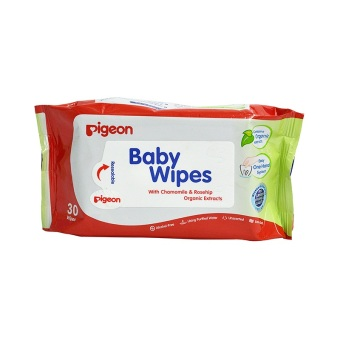 Pigeon Baby Wipes with Chamomile and Rosehip, Pack of 30